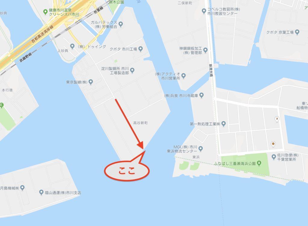 江戸川放水路河口 ふなばし三番瀬向かいの釣り場はシーバススポット